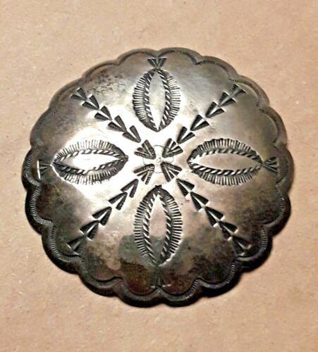 Vintage 1930s-40s Era Stamped Silver Navajo Brooch