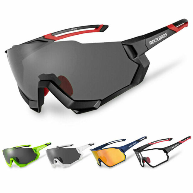 RockBros Photochromic Cycling Sunglasses Polarized Lens Goggles Eyewear