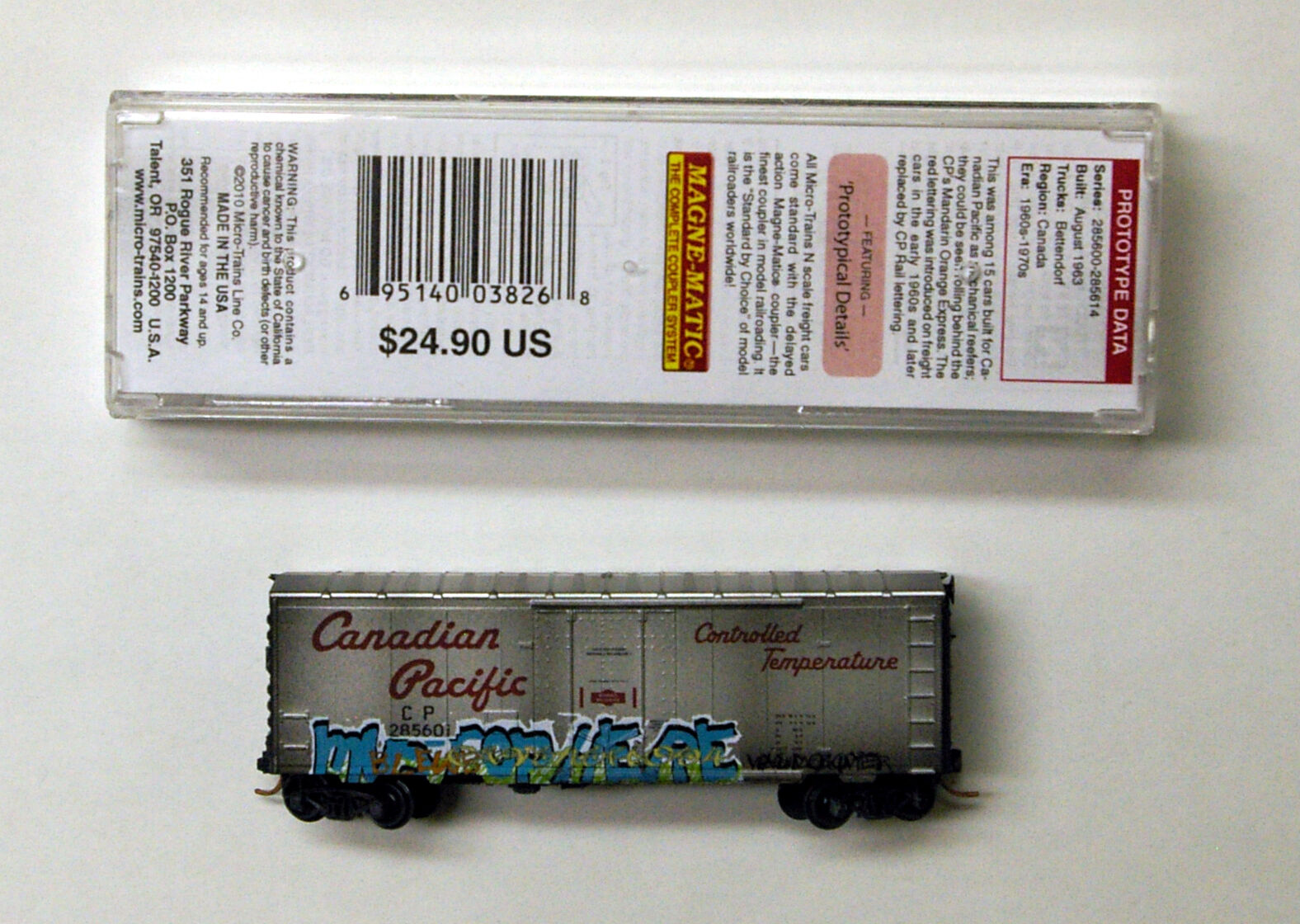 MTL Micro-Trains 74040 Canadian Pacific CP 285601 FW FW FW Factory Weathered 5fee19
