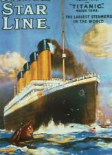 RMS TITANIC A3 size POSTER OLYMPIC White Star Line Steam Ship Dowton Abbey Cook
