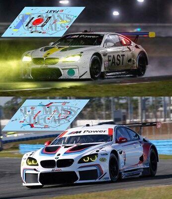 Calcas BMW M6 GT LM Daytona 2017 19 24 1:32 1:24 1:43 1:18 art car slot decals