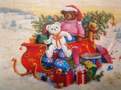 Hoja de papel de arroz Decoupage Scrapbook Craft A5 regalos de Navidad Juguetes 81