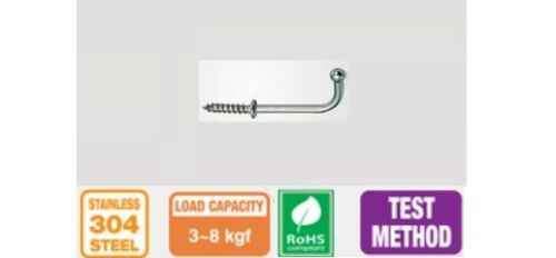 SHOULDERED DRESSER CUP WIRE HOOKS STEEL TOP QUALITY Square Screw L Shape 22-32mm