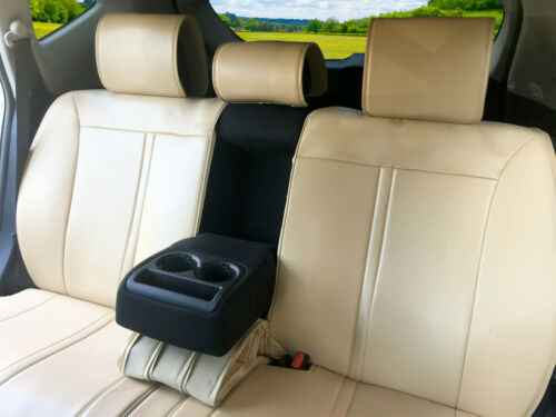 Leather Like Rear Car Seat Cover all type Split Bench for GMC #209 Tan