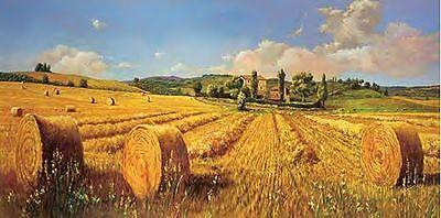 Andrea del Missier: Campo in Toscana Keilrahmen-Bild Leinwand Toskana Feld