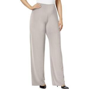 43ed9d59b929a9 Alfani Womens Pants Plus Size 3X French Stone Wide-Leg Soft Pants ...