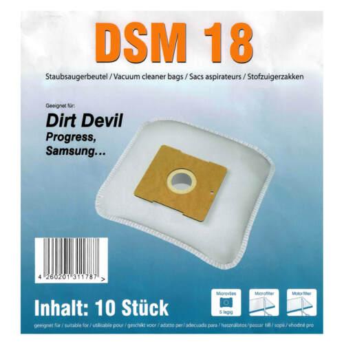 20 Staubsaugerbeutel DSM18 geeignet für Dirt Devil M7019 Lifty