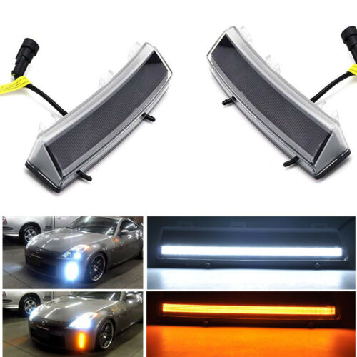370Z Style Switchback LED Daytime Running Lights//Turn Signal For 2006-09 350Z