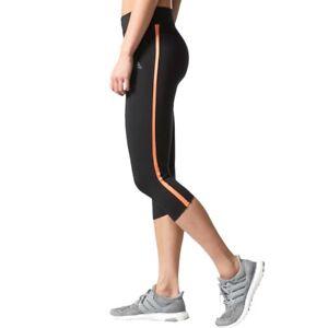 1c6e1bc52eda7 Adidas Women's Response 3/4 Tights Mid Rise Capri Black Orange Size ...