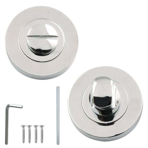 Bathroom Door Lock WC Thumbturn Turn /& Coin Release in 3 Finishes