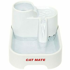 Cat Mate Pet Fountain Multi Height Drinking Stations for Cats Dogs 70 fl oz