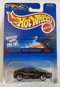 1997 HotWheels FERRARI 355 Nero Rockin BACCHETTE! carta a lungo! molto RARO! Nuovo di zecca! MIOC!