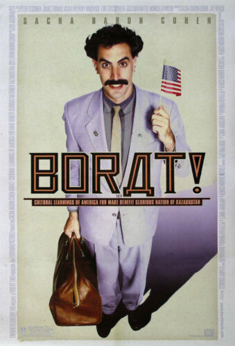 "/""BORAT /"" Retro Movie Poster A1A2A3A4Sizes"
