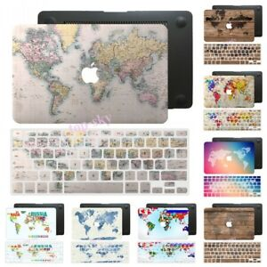 World map rubberized hard case keyboard cover for macbook pro air 11 image is loading world map rubberized hard case keyboard cover for gumiabroncs Gallery