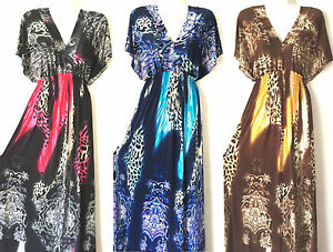 PLUS-SIZE-Women-Long-Maxi-summer-beach-hawaiian-Boho-evening-party-sundress-33