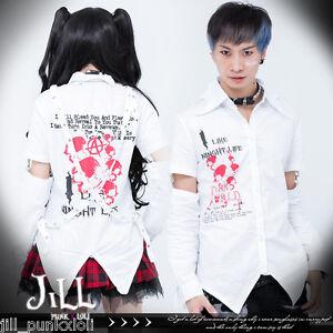 Punk-Rock-Heavy-rock-night-underworld-unisex-sleevelet-tuxedo-shirt-GA341-W