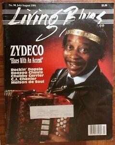 LIVING-BLUES-MAGAZINE-98-1991-ZYDECO-Rockin-039-Dopsie-Chubby-Carrier-CJ-Chenier