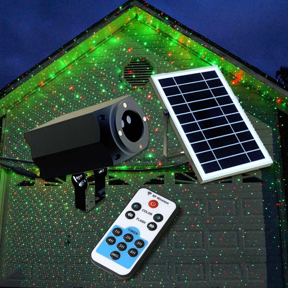 Proiettore Luci Natalizie Magia di Stelle ad Energia Solare luci natalizie laser