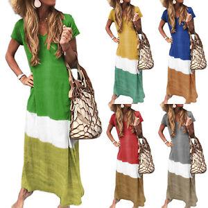 Women-Boho-Long-Dress-Cocktail-Maxi-Summer-Casual-Party-Evening-Beach-Sundress