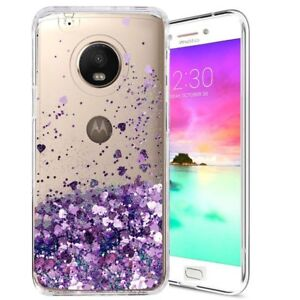 sale retailer 12635 fd404 Details about Shiny Glitter Liquid Quicksand Clear TPU Phone Case Cover for  Motorola Moto G5