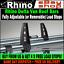 2 x Rhino Delta Van Roof Rack Bars Load Stops Fiat Ducato 1995-2006 Low Roof