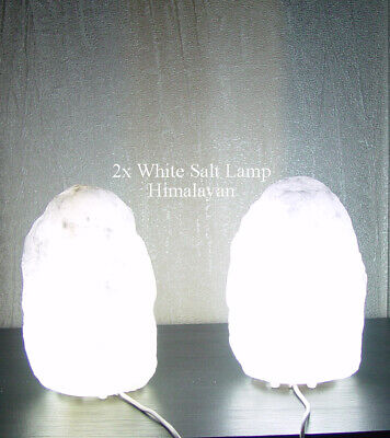 2019 Nieuwe Stijl Pack Of 2 Salt Lamps White Himalayan 1-2kg Usb Cable Led 3watt Bulb Aaa Quality