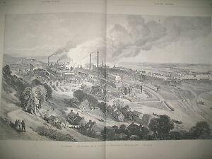 VUE-GENERALE-LE-CREUSOT-ETS-METALLURGIQUES-COMBAT-DE-BAGNEUX-GRAVURES-1870