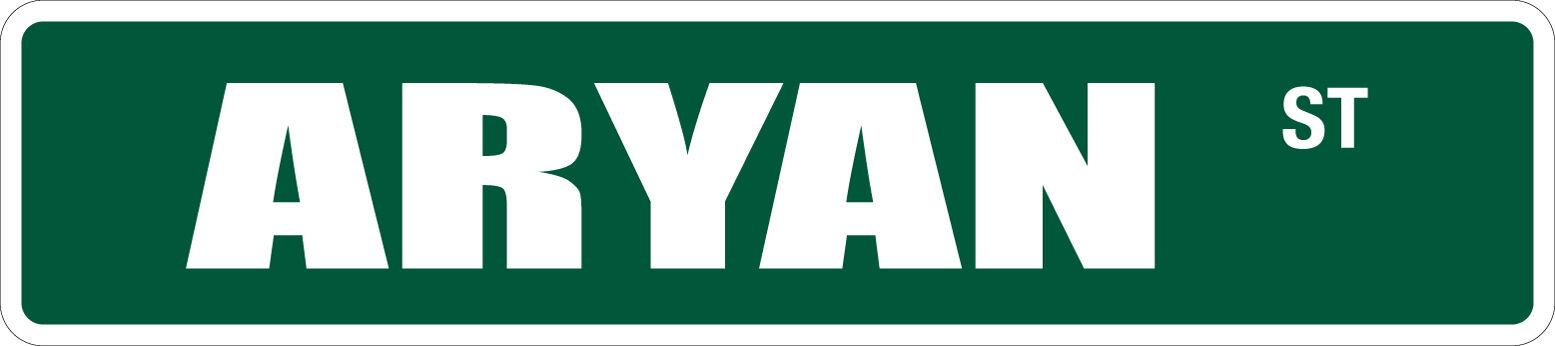 "*Aluminum* Aryan St 4/"" x 18/"" Metal Novelty Street Sign  SS 387"