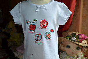 tee-shirt-neuf-cyrillus-3-ans-blanc-avec-des-fruits-dessus-tres-migion