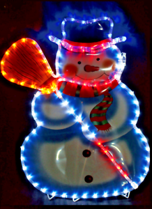 Snowman christmas display festive rope lights indoor or outdoor image is loading snowman christmas display festive rope lights indoor or aloadofball Images