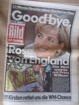 Billiger Preis Bild Am Sonntag Vom 7. September 1997 Goodbye, Rose Von England Diana Beerdigung Up-To-Date-Styling