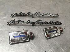 Peugeot 406 COUPE PININFARINA PININ FARINA LOGO SHIELD AND TEXT BADGE SET BADGES