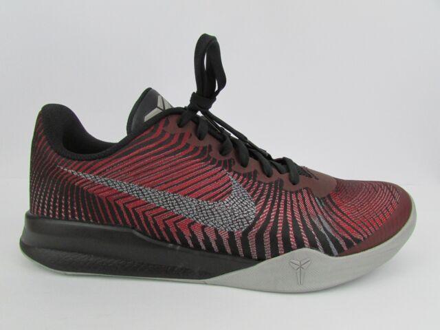 reputable site 551e5 c4934 Nike KB Mentality II Kobe Men s Basketball Shoes 818952 002 sz 10.5 Red  Silver