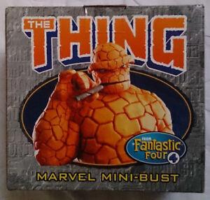 Marvel Comics Bowen Fantastique Quatre La Chose Mini Buste / statue Avec Boîte