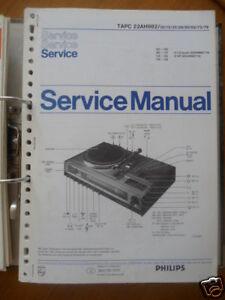 Tv, Video & Audio Service Manual Philips Tapc 22 Ah 982 Hifi-sys,original Eine GroßE Auswahl An Modellen