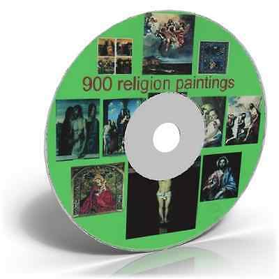 900 Religious Painting Images on DVD Art & Craft, Historic picture CD collection