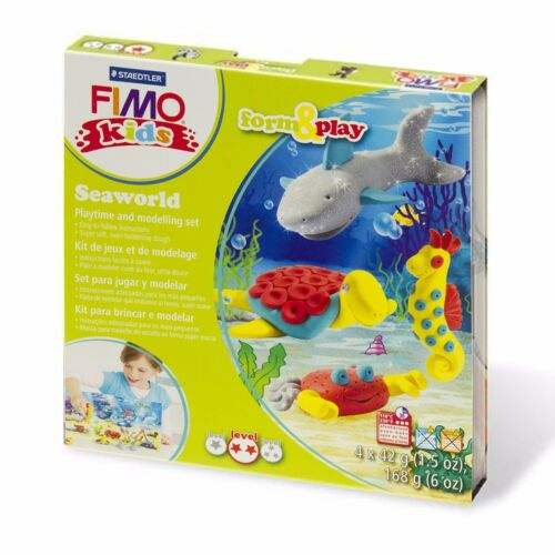 Fimo Kids Under The Sea Form and Play Clay Set Includes 4 Fimo Kids Clays