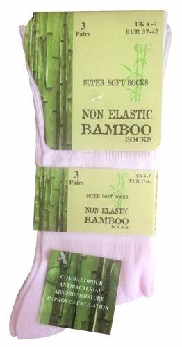 3 Paires Femme Bambou Fantaisie Anti Transpiration Chaussettes sans Elastiques