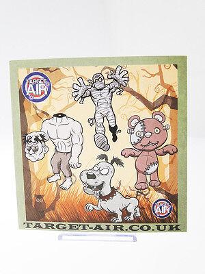 10 Bersagli In Cartoncino Target Zombie Cartoon Lato 14 Cm Quadrati Softair Tiro
