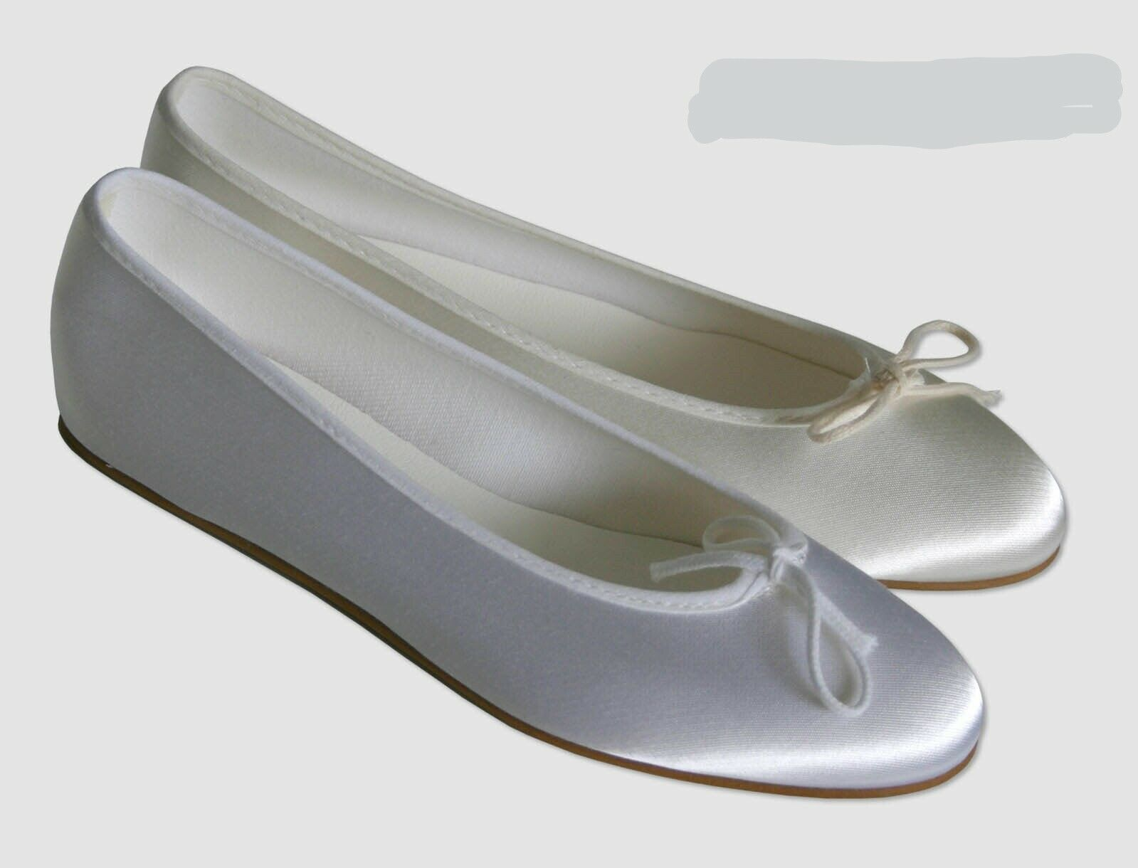Ivory Or White Satin Bridesmaid Flower Girl Communion Shoes. Childs 8 ~ Adult 6