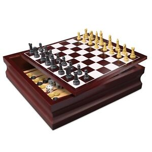 Wooden-10-in-1-Board-Family-Board-Game-Set-Chess-Checkers-Backgammon-Solitaire