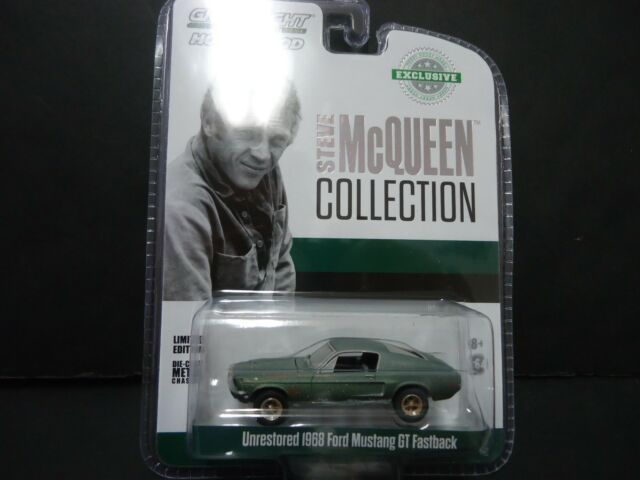 Ford Mustang Gt 1968 Bullit Steve McQueen 1:64 Model GREEN LIGHT