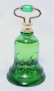 Vintage-Avon-Emerald-Green-Bell-Sweet-Honesty-Cologne-Perfume-Bottle