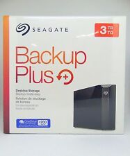 New Seagate Backup Plus 3TB External Desktop Hard Drive Storage STFM3000100