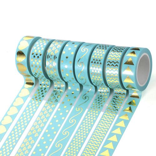 Gold Foil Washi Masking Tape Klebeband Klebebänder Papier Deko Aufkleber-Gift