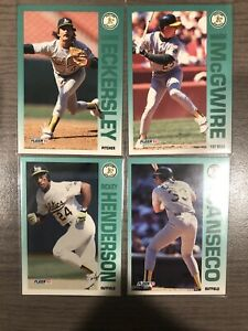 1992 Fleer Oakland A's 25 Card Team Set Inc Henderson, McGuire, Canseco