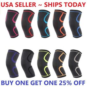 2pcs-Knee-Sleeve-Compression-Brace-Support-For-Sport-Joint-Pain-Arthritis-Relief