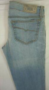 NWT-DIESEL-Womens-Light-Wash-0RZ05-Grupee-Super-Slim-Skinny-Denim-Jeans-28-x-32
