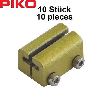 Frugale Piko G 35293 Metallo Schraub-schienenverbinder (10 Pezzo) - Nuovo + Ovp