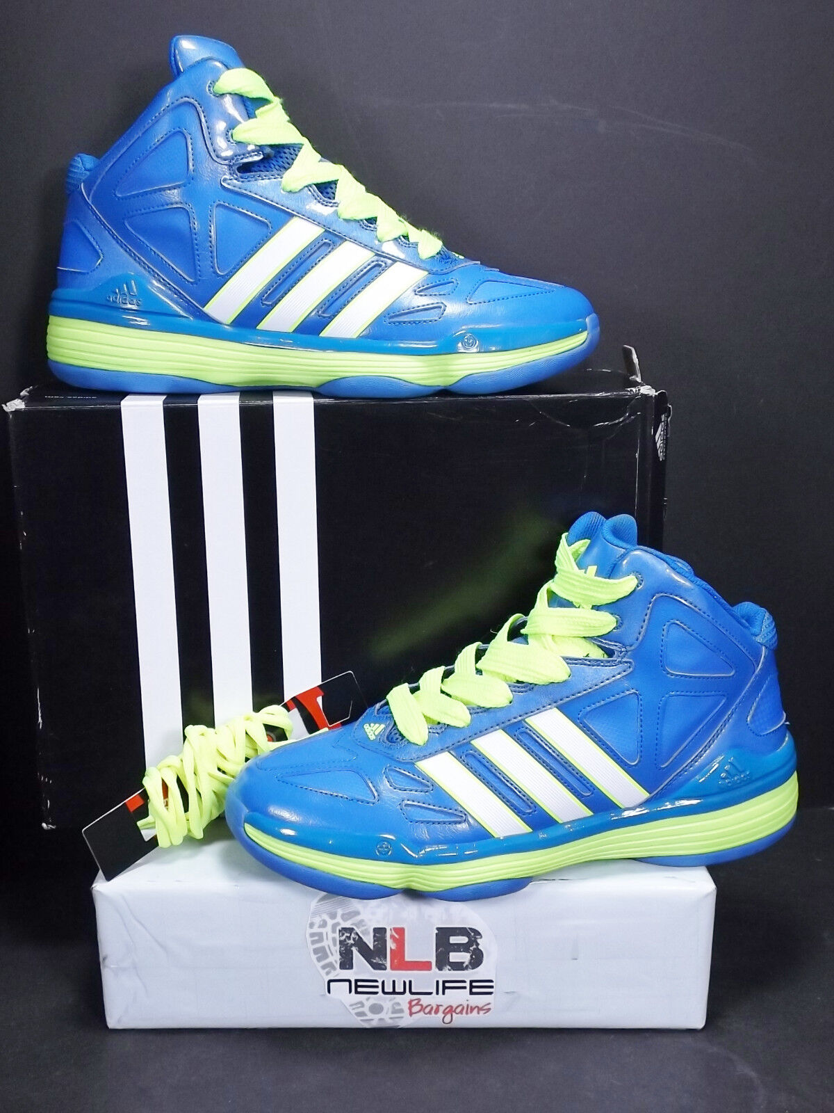 2013 Adidas Evader G98198 bluee Electricity Men's Size 12 EXTRA-LACES